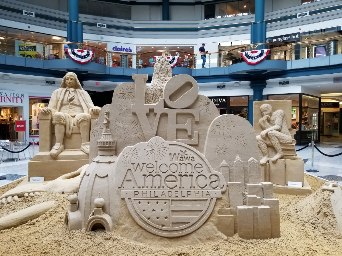 Sand Sculpture Spectacular at The Shops at Liberty Place