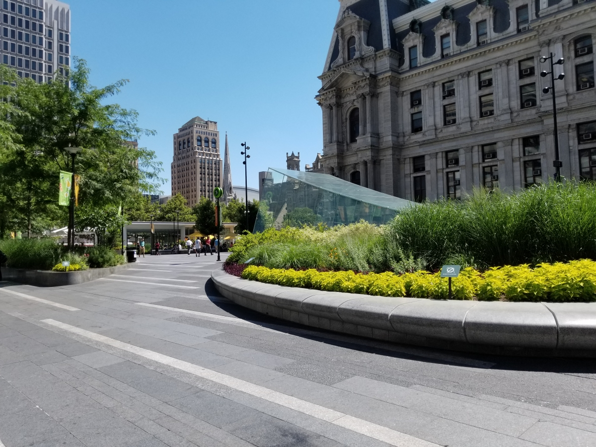 Dilworth Park with Philadelphia's City Hall in the Background