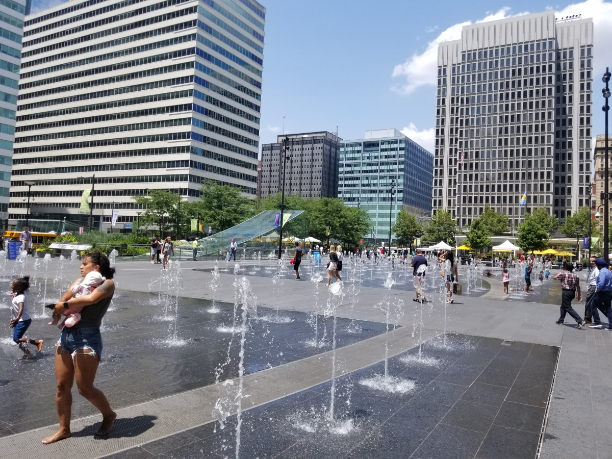 Dilworth Park Splash Fountain