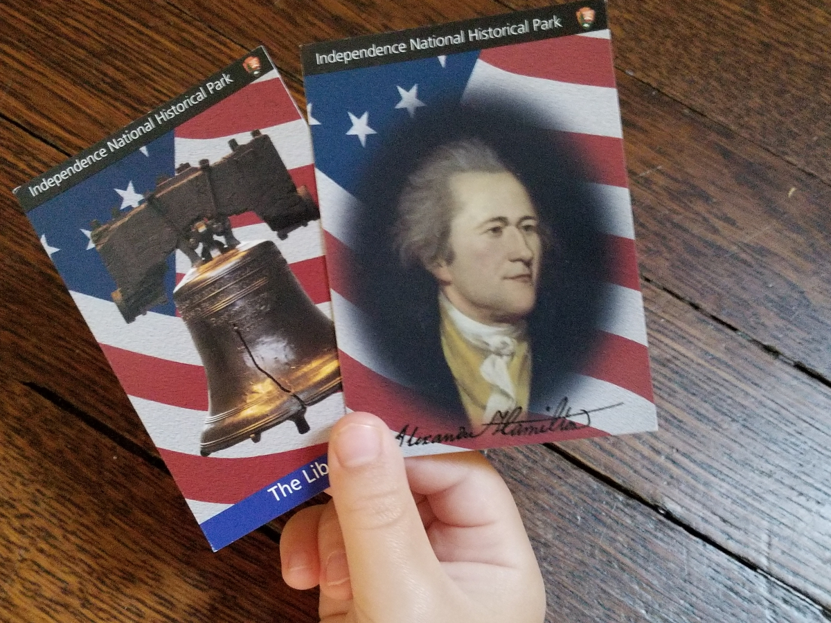 Alexander Hamilton and the Liberty Bell Trading Cards