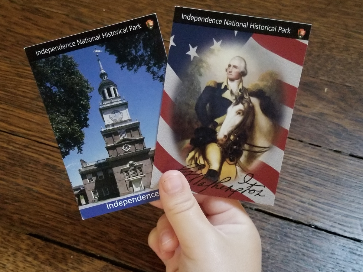 George Washington and Independence Hall Trading Cards