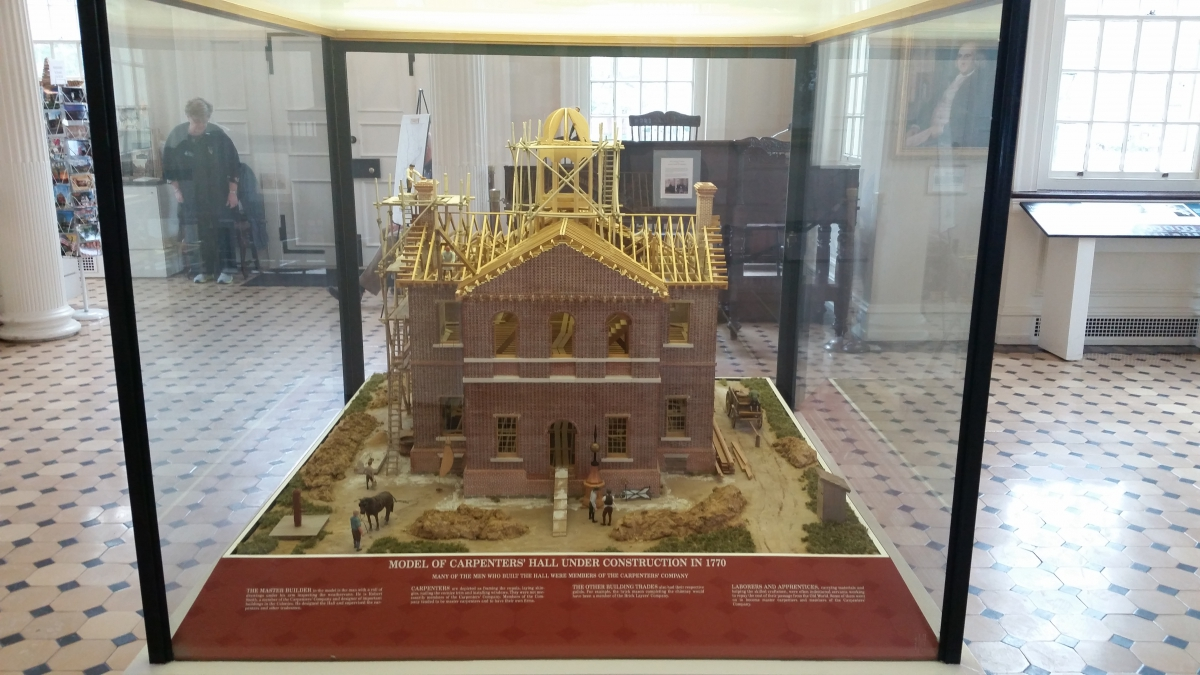 Model of construction of Carpenters' Hall