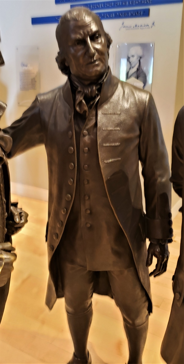 Charles Cotesworth Pinckney Statue in Signers' Hall at the National Constitution Center