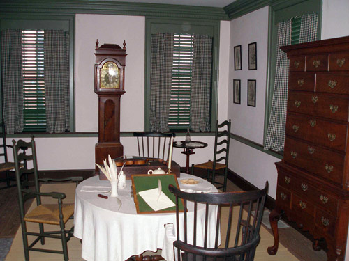 Interior of the Declaration House, Jefferson's Parlor