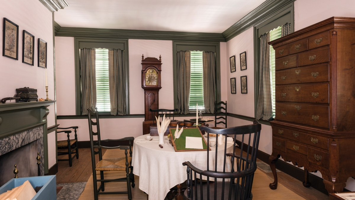 Interior of the reconstructed Declaration House, where Thomas Jefferson wrote The Declaration of Independence - Photo Credit: NPS