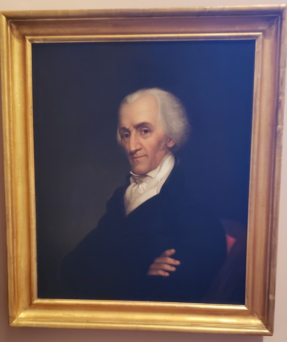 Portrait of Elbridge Gerry hanging in the Second Bank of the United States Portrait Gallery