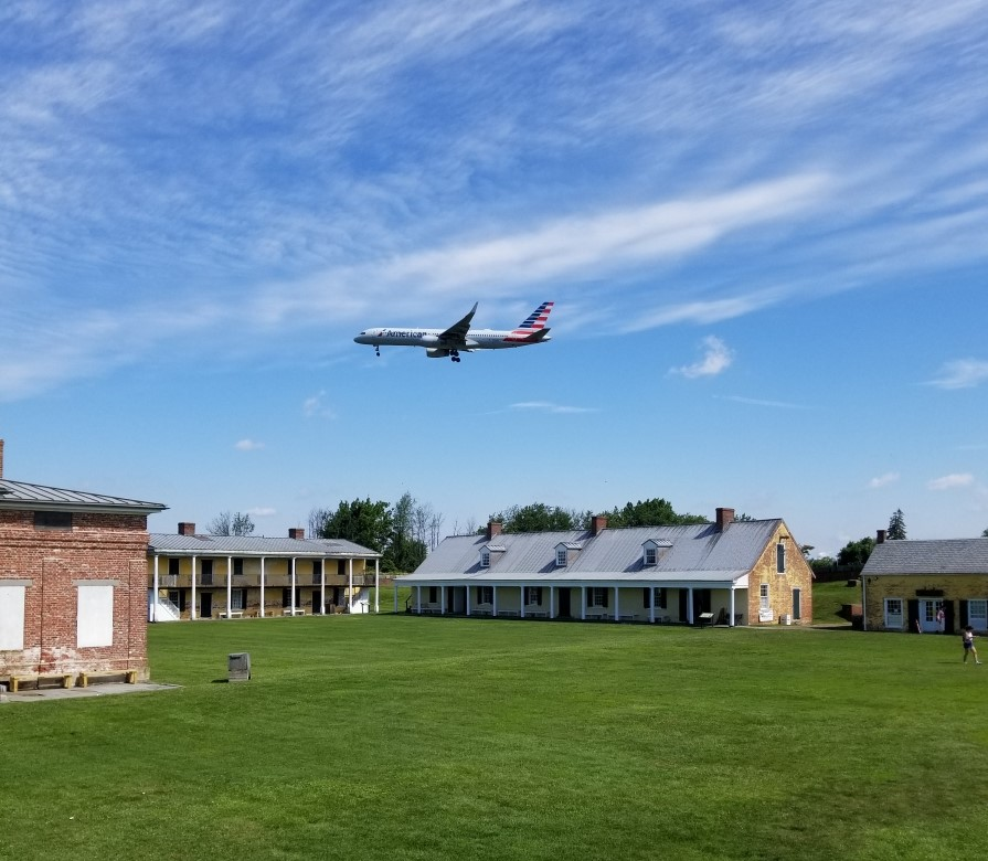 Fort Mifflin is on the Approach Route to Philadelphia International Airport