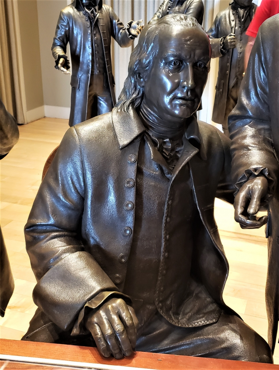 George Clymer Statue in Signers' Hall at the National Constitution Center