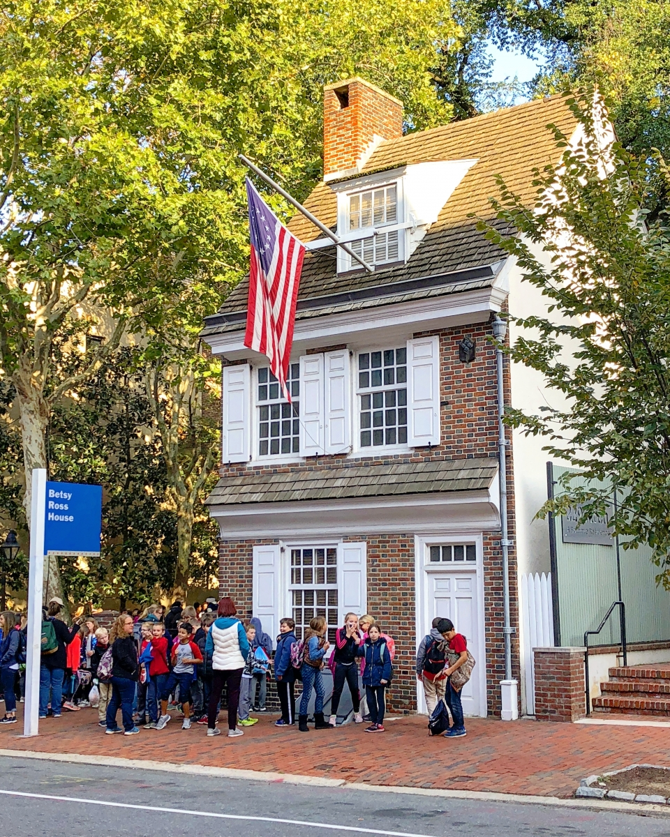 The Betsy Ross House Birthplace Of The American Flag The Constitutional Walking Tour Of Philadelphia