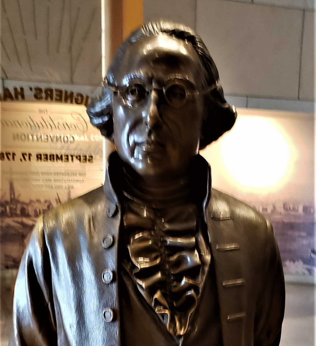 James Wilson Statue in Signers' Hall at the National Constitution Center