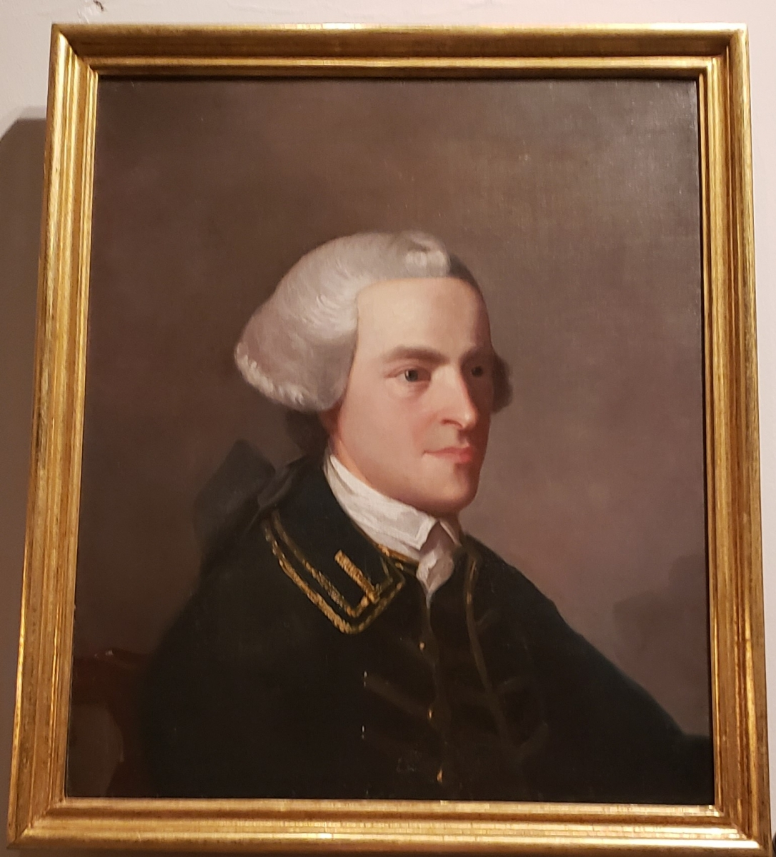 Portrait of John Hancock hanging in the Second Bank of the United States Portrait Gallery