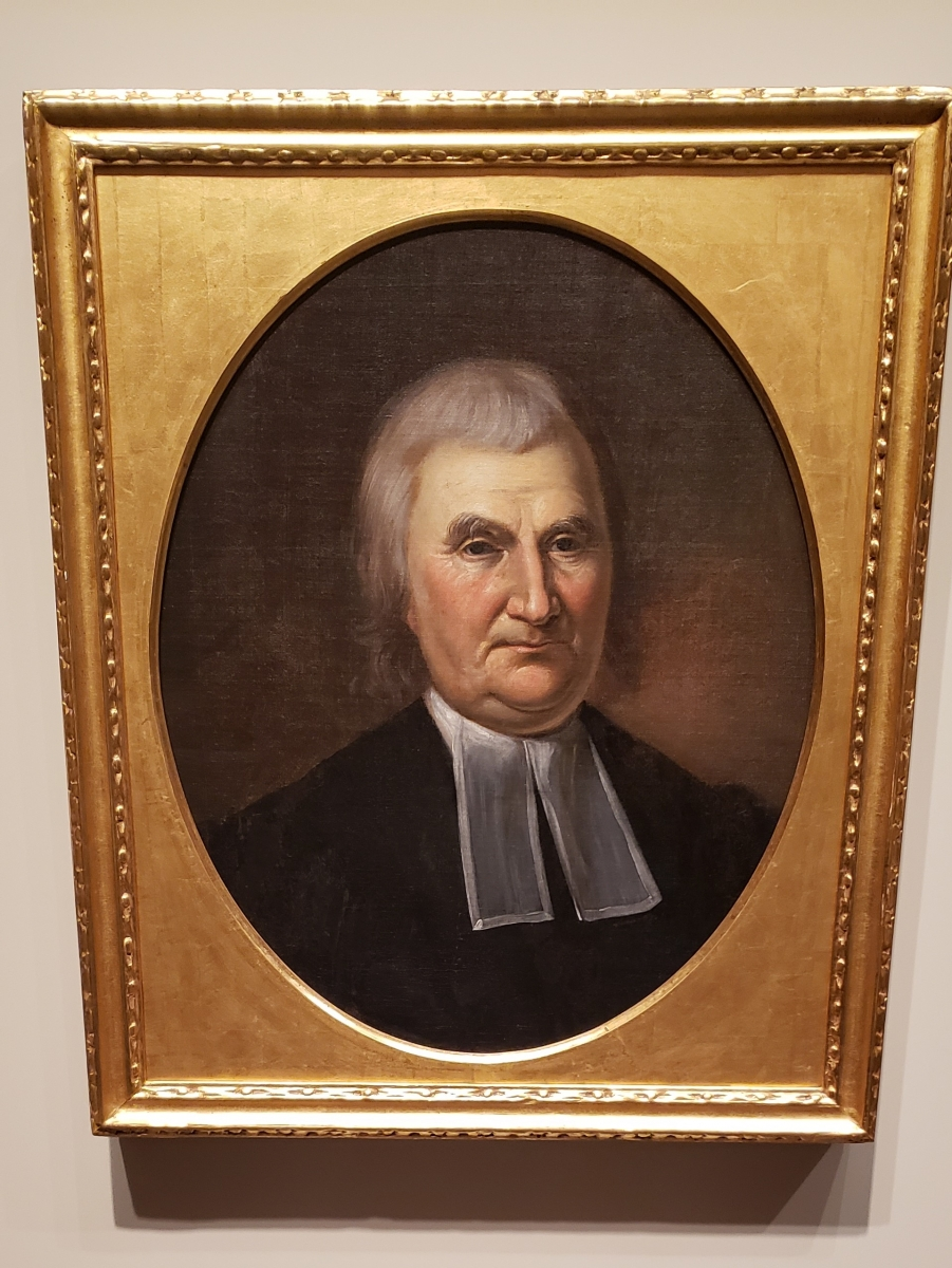 Portrait of John Witherspoon hanging in the Second Bank of the United States Portrait Gallery