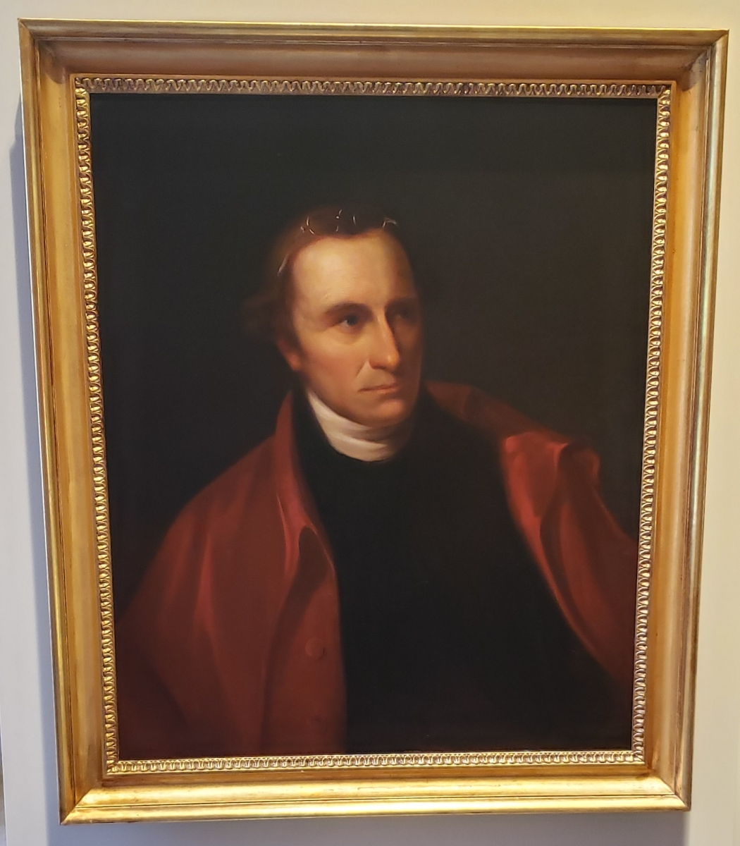 Portrait of Patrick Henry hanging in the Second Bank of the United States Portrait Gallery
