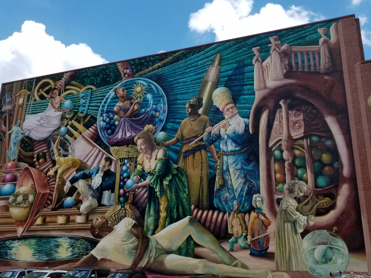 Philadelphia Muses Mural in the Gayborhood