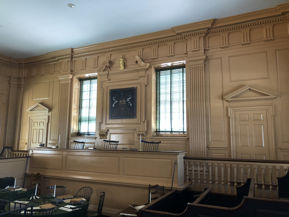 Courthouse in Independence Hall that once served as the Supreme Court of Pennsylvania