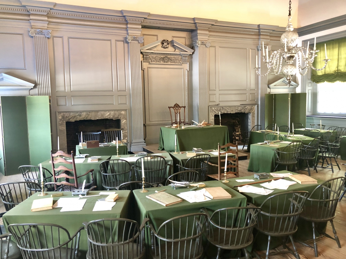 The Assembly Room of Independence Hall - Location of the Signing of the Declaration of Independence and the United States Constitution