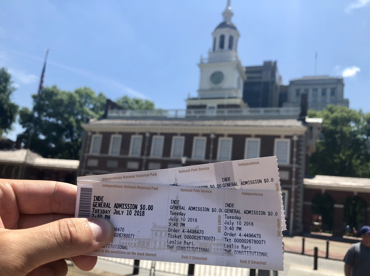 The tickets you'll need to visit Independence Hall