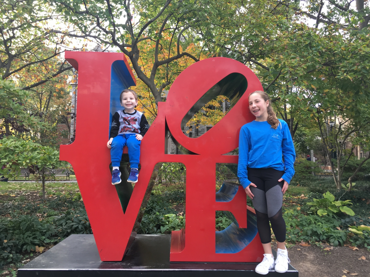 LOVE Statue by Robert Indiana at the University of Pennsylvania