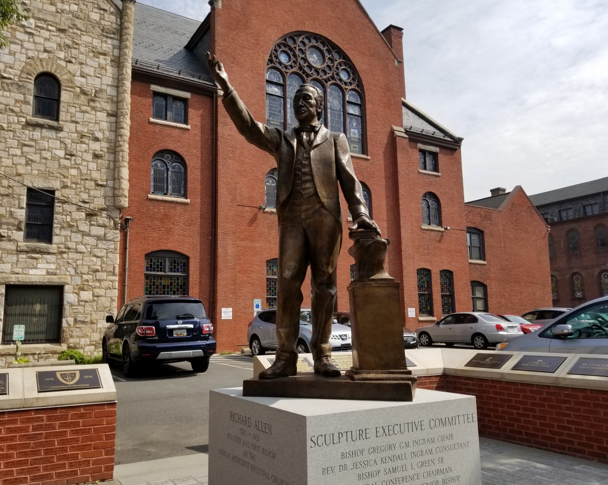 Richard Allen Statue located at Mother Bethel A.M.E. Church