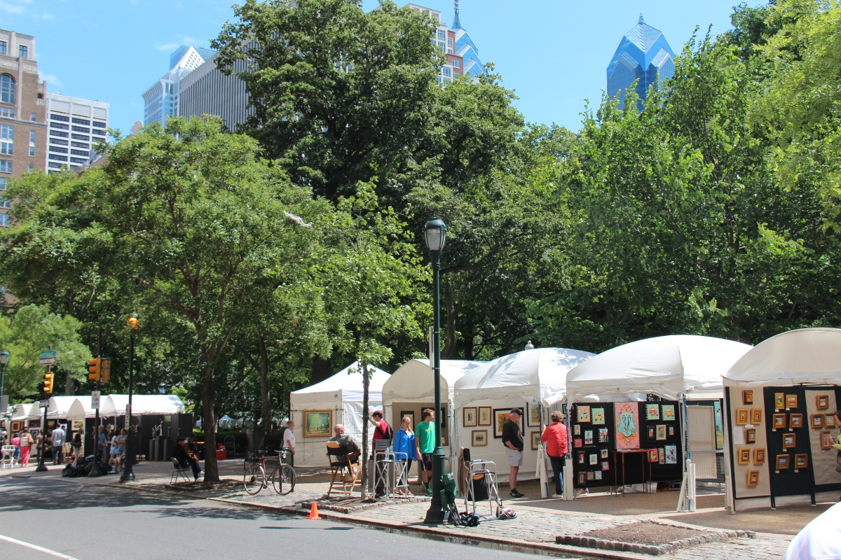 Rittenhouse square the constitutional walking tour of for Craft fair in philadelphia pa
