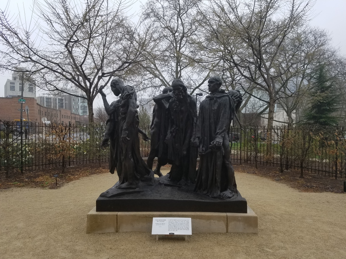 """The Burghers of Calais"" - Rodin Museum, Philadelphia"