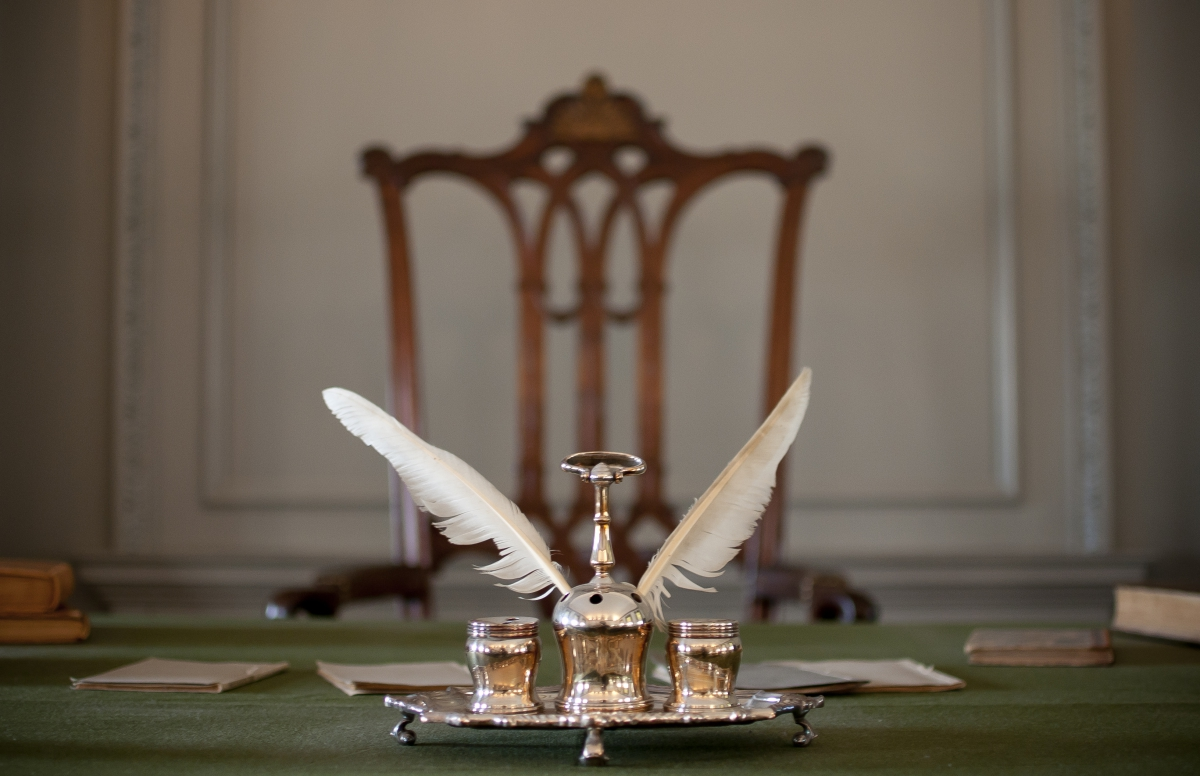 The Syng Inkstand - Believed to have been used to sign The Declaration of Independence - Photo Credit: National Park Service