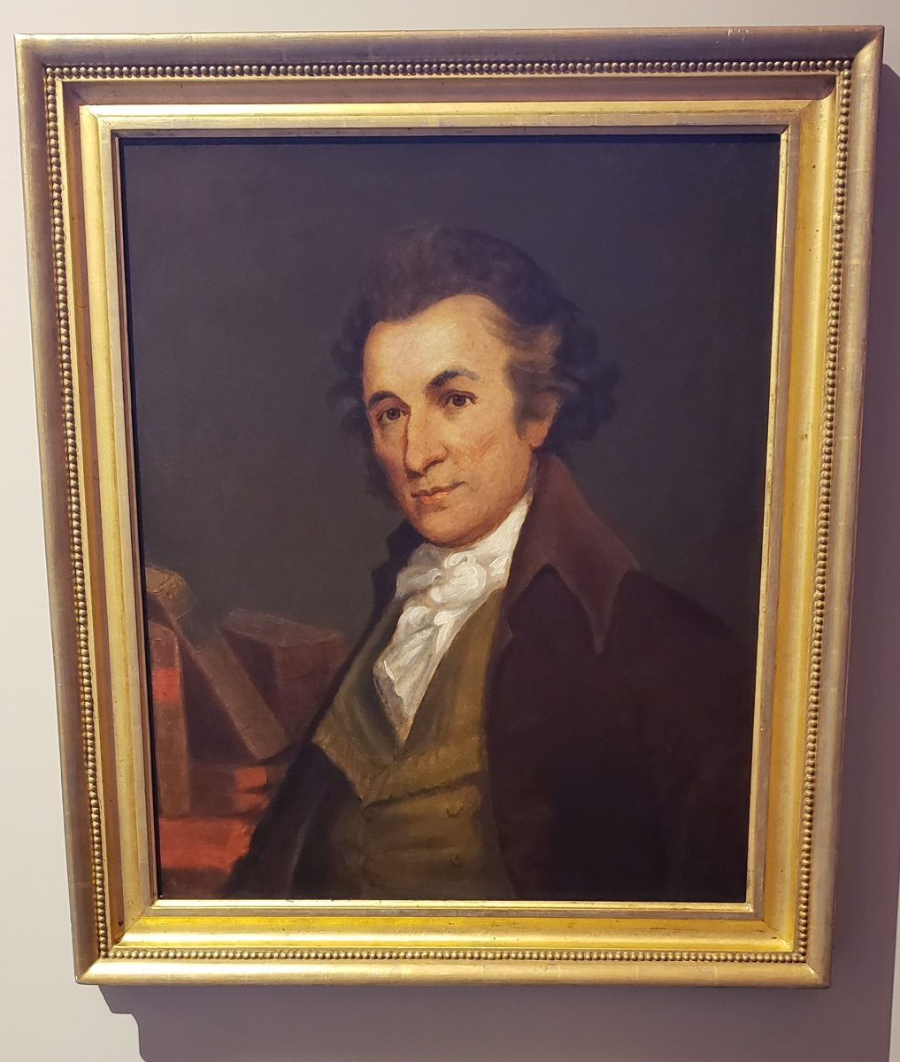 Thomas Paine Portrait located in the Second Bank of the United States Portrait Gallery