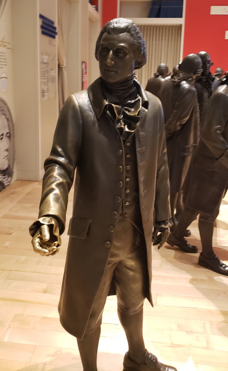 William Blount Statue in Signers' Hall at the National Constitution Center