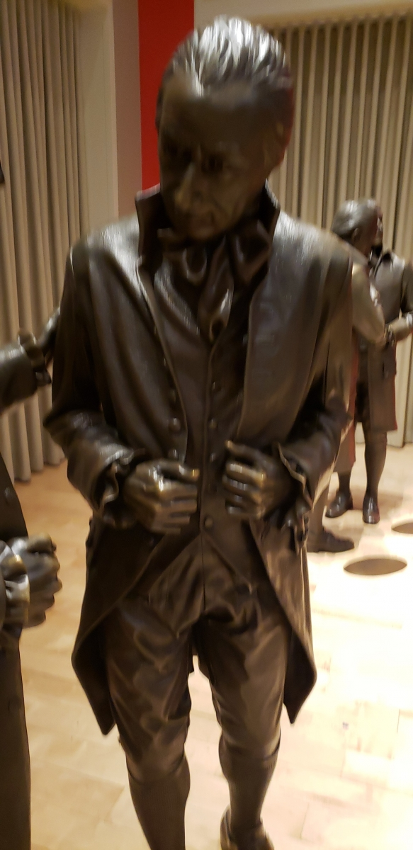 William Samuel Johnson Statue in Signers' Hall at the National Constitution Center