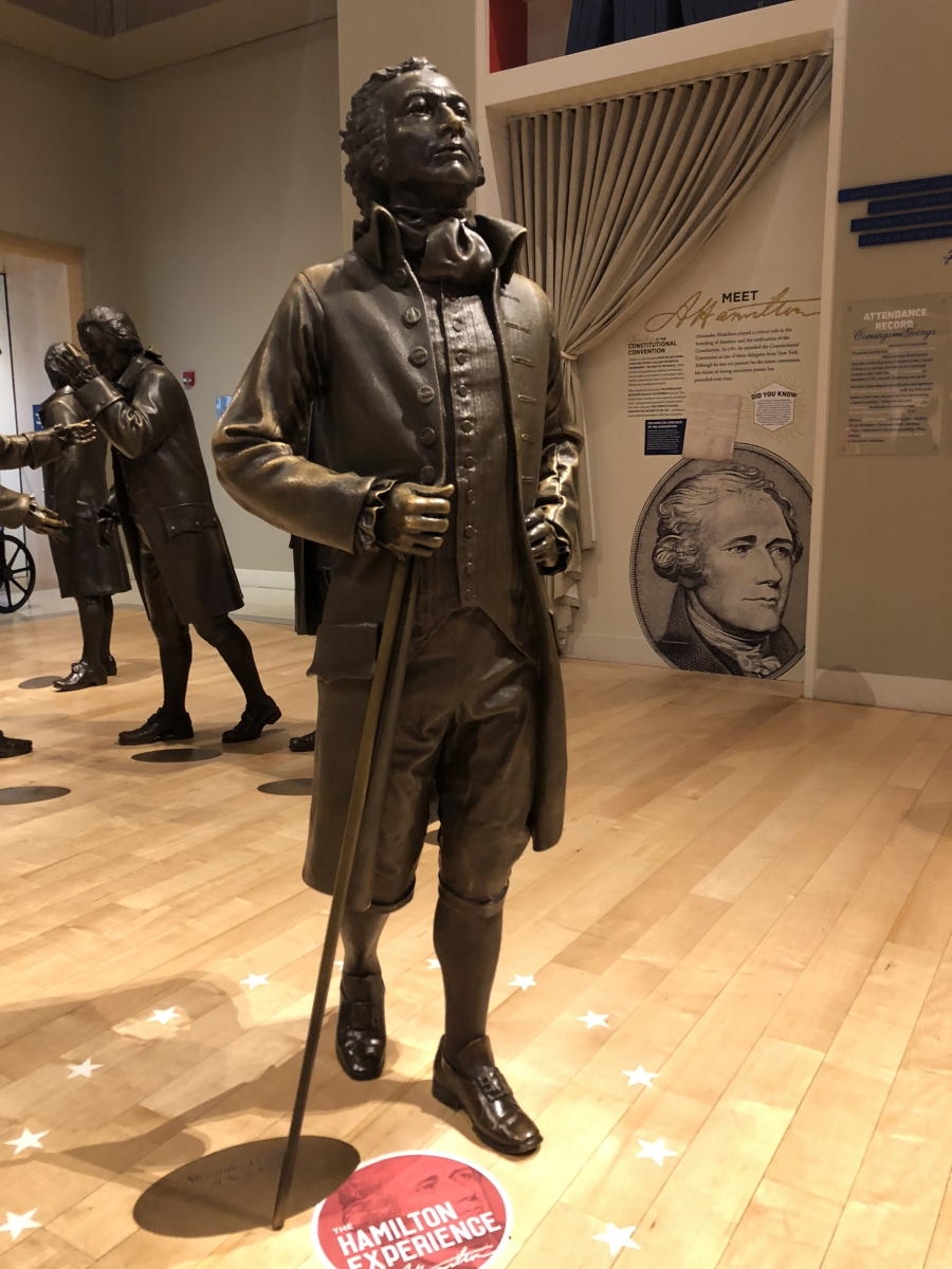 Statue of Alexander Hamilton in National Constitution Center