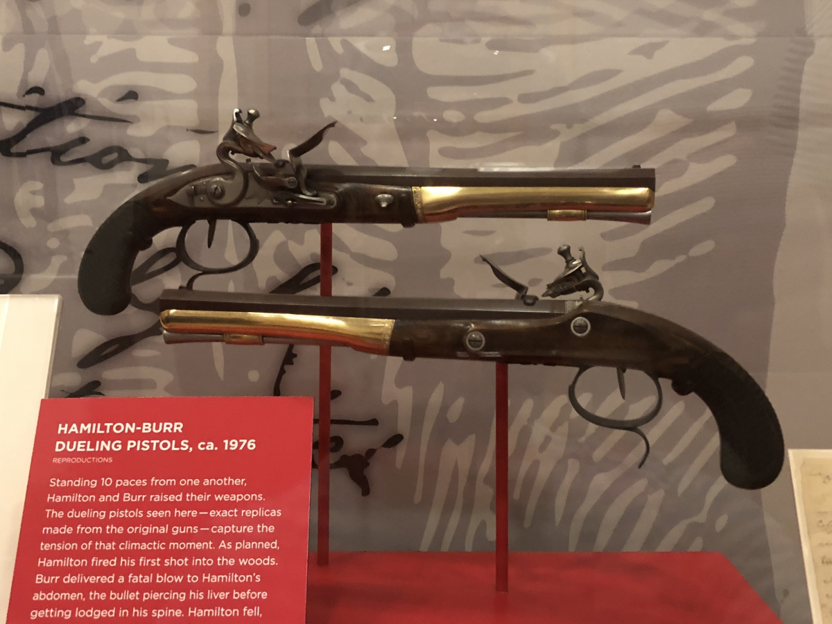 Replica of the pistols used by Alexander Hamilton and Aaron Burr in their famous duel