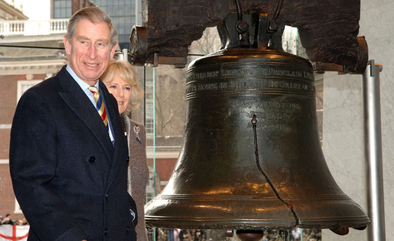 Prince Charles and Duchess Camilla Parker-Bowles viewing the Liberty Bell - Photo Credit: Anwar Hussein