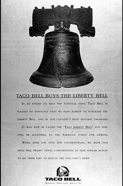 Taco Bell Advertisement - April 1, 1996