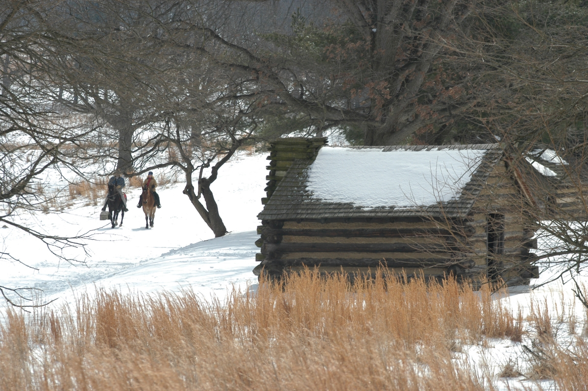 A replica Continental Army hut. Source: ValleyForge.org