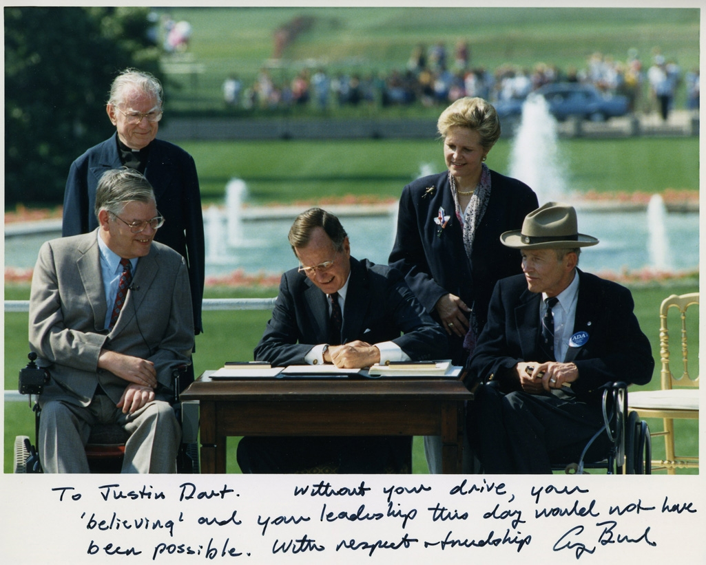 President Bush Signing the Americans with Disabilities Act, The White House, Washington, D.C., July 26, 1990