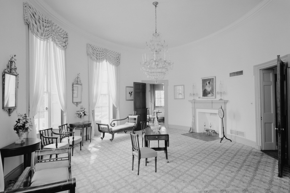 Lemon Hill Mansion, Philadelphia, First Floor, South Oval Room (Credit: Library of Congress)