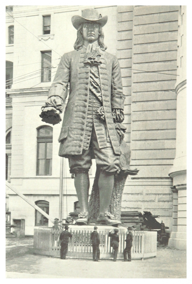 William Penn Statue, City Hall Courtyard, Circa 1893-1894, Prior to the Statue Being Place on top of City Hall Clocktower in 1894