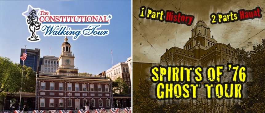Combo Ticket, Spirits of '76 Ghost Tour, The Constitutional Walking Tour, Independence National Historical Park, Tours of Historic Philadelphia