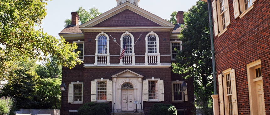 Carpenters' Hall, The Constitutional Walking Tour, Declaration of Rights and Grievances, Petition to the King