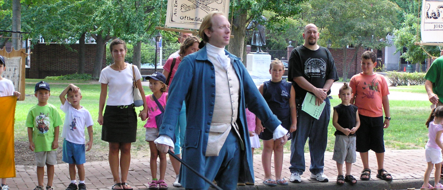 Thomas Jefferson, Reenactment, The Constitutional Walking Tour, Independence National Historical Park, Tours of Historic Philadelphia