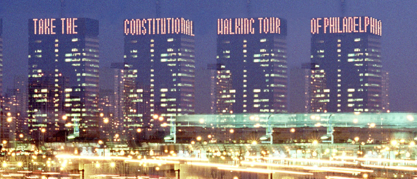 The Constitutional Walking Tour, Independence National Historical Park, Tours of Historic Philadelphia, PECO Building, Crown Lights