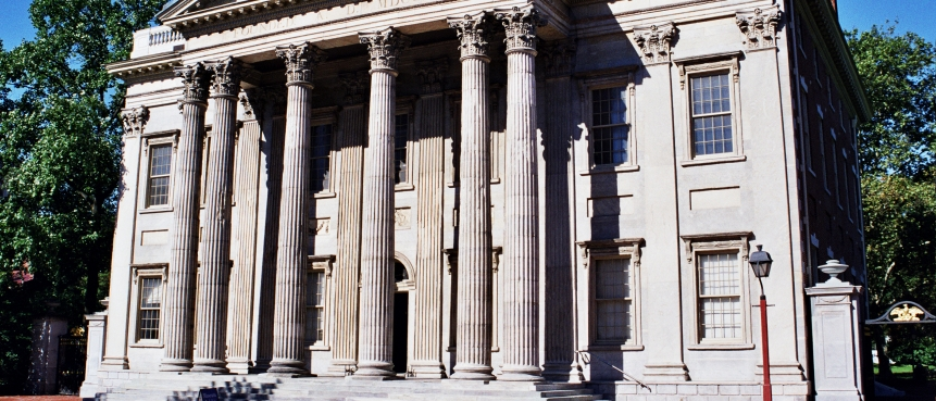 The First Bank of the United States, The Constitutional Bus Tour, Independence National Historical Park, Group Tours of Historic Philadelphia