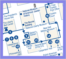 Philadelphia Walking Tour Map Self Guided Tours | The Constitutional Walking Tour of Philadelphia